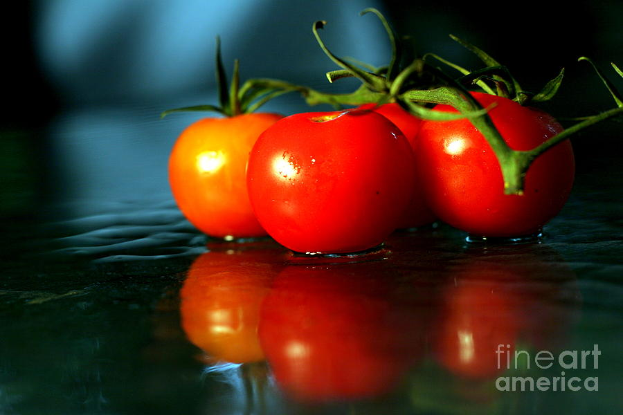 Sherry Photograph - Sherry Tomatoes by Arie Arik Chen