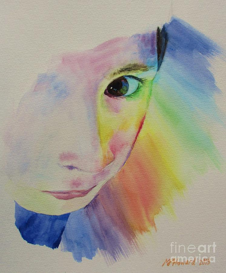 Abstract Painting - Shes A Rainbow by Martin Howard