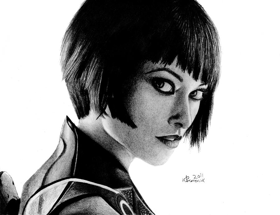 Quorra Drawing - Shes An Iso by Kayleigh Semeniuk