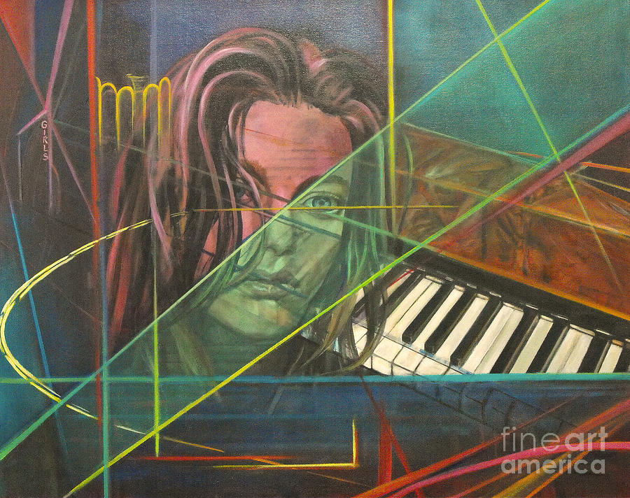 Piano Keys Painting - Shes Got The Blues by Eva Berman