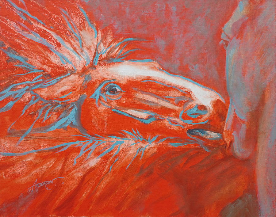 Horse Painting - Shes Mine by Sherri Anderson