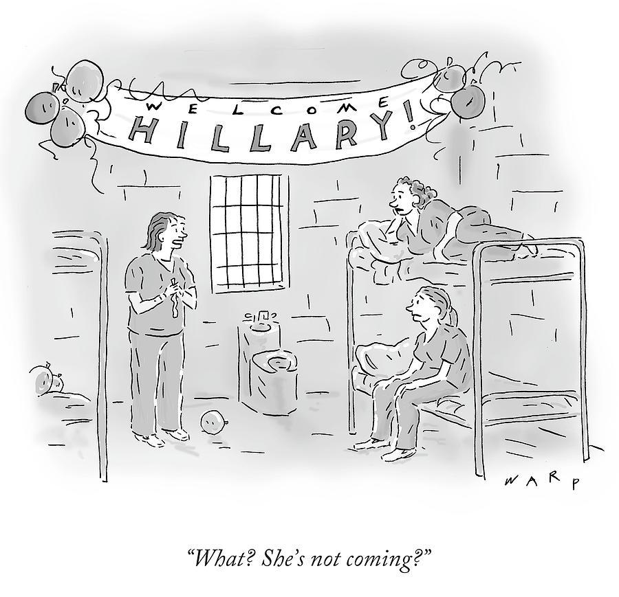 Cartoon Drawing - Shes Not Coming by Kim Warp
