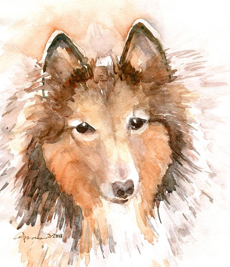 Shetland Sheepdog Painting - Shetland Sheepdog by Claudia Hafner