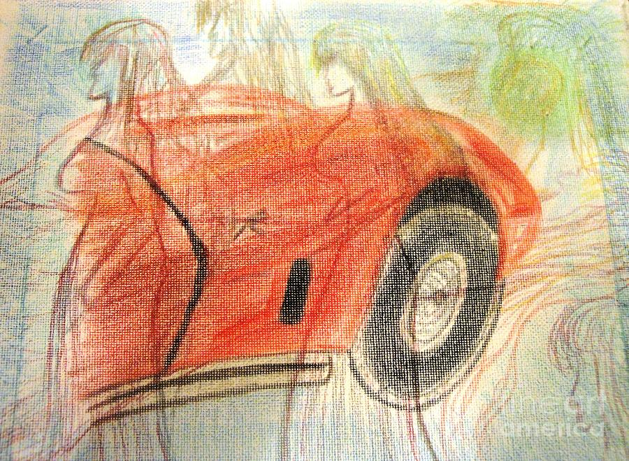 Corvette Mixed Media - Shevette by Jackie Bodnar
