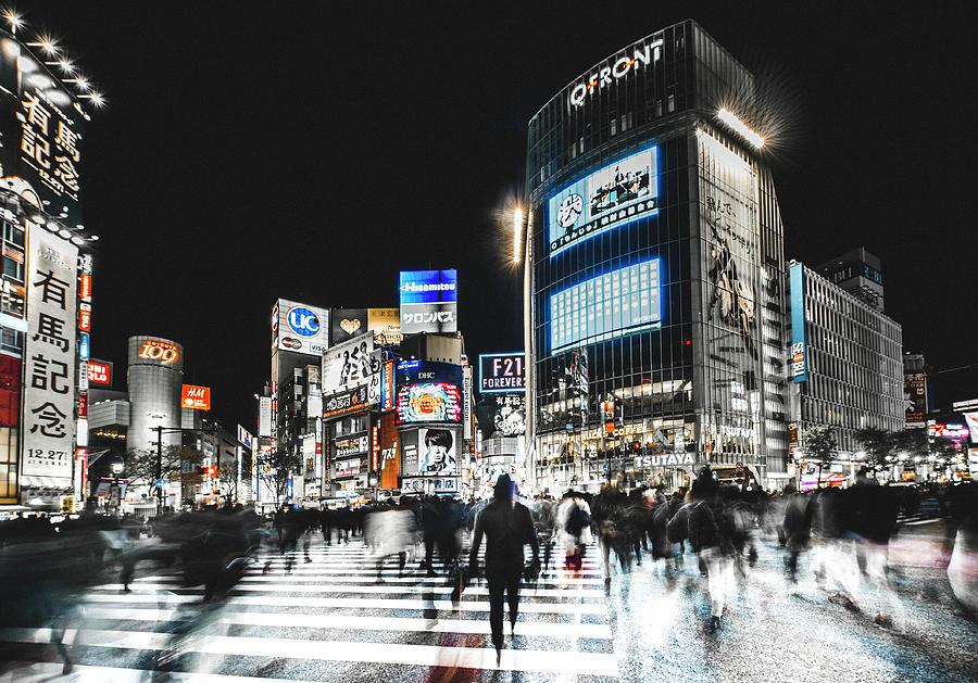 Tokyo Photograph - Shibuya Crossing by Carmine Chiriac??