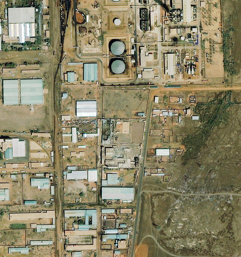Building Photograph - Shifa Pharmaceutical Plant by Geoeye/science Photo Library