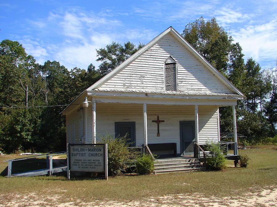 House Photograph - Shiloh-marion Baptist Church by Lew Davis