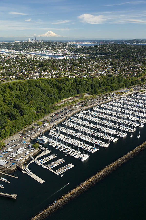 America Photograph - Shilshole Bay Marina On Puget Sound by Andrew Buchanan/SLP