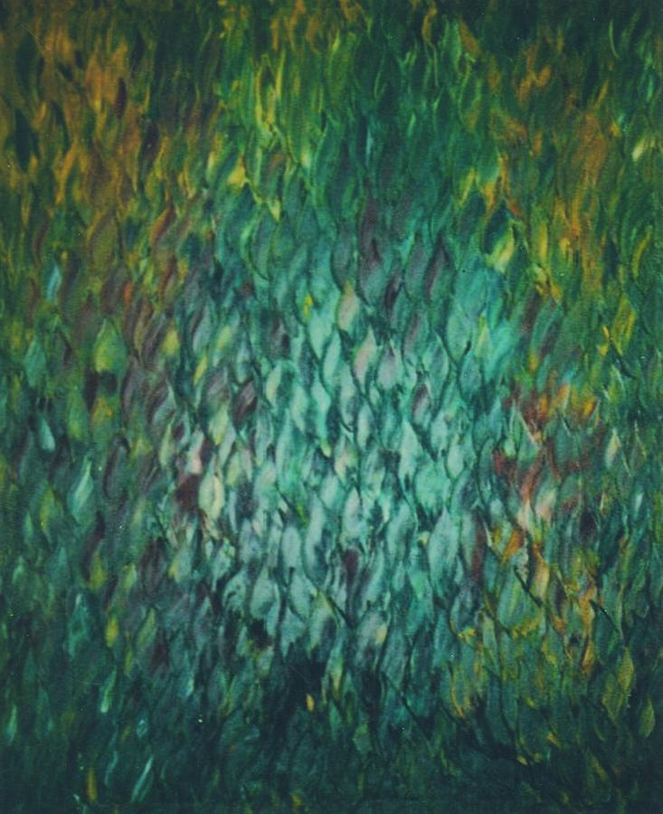 Water Painting - Shimmering Reflections by Kusum Shukla