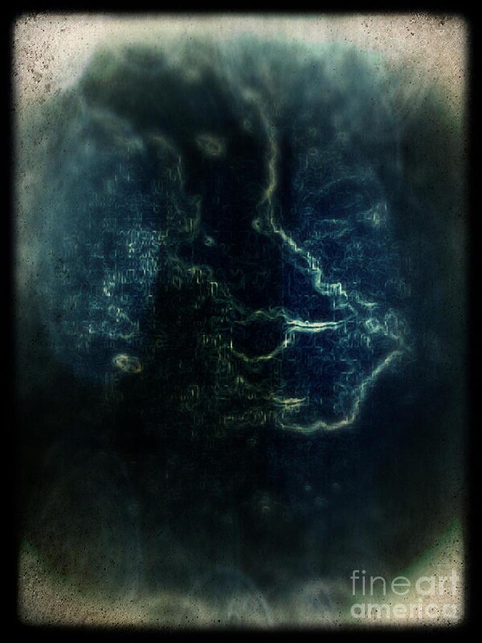 Abstract Mixed Media - Shin by Daniel Brummitt