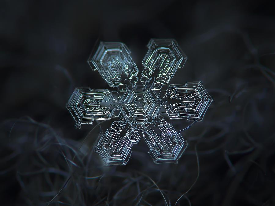 Snowflake Photograph - Snowflake Photo - Shine by Alexey Kljatov