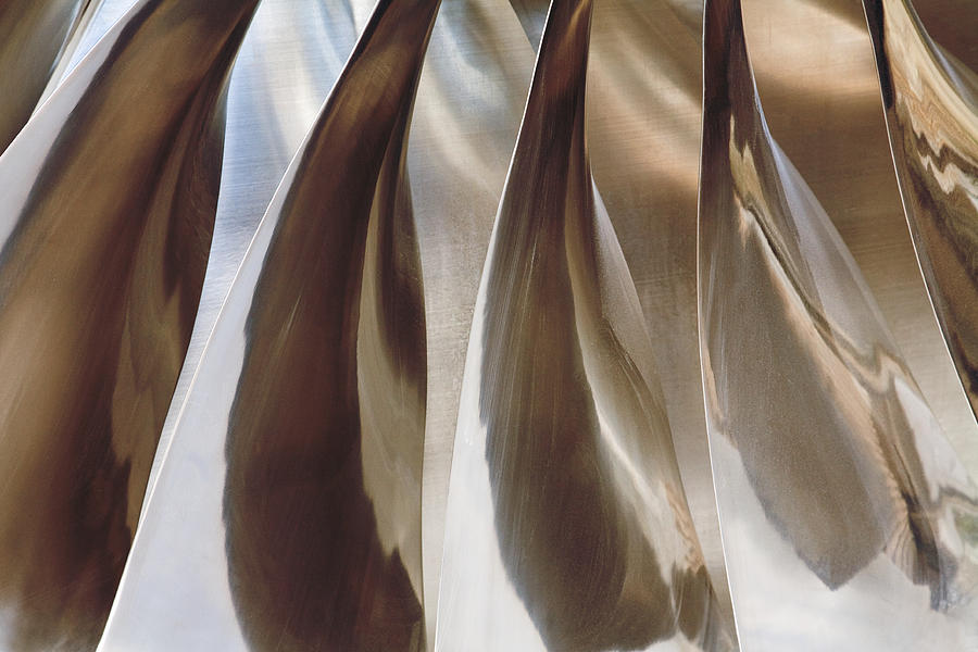 Abstract Photograph - Shine On Metal II - Bronze Tones by Natalie Kinnear