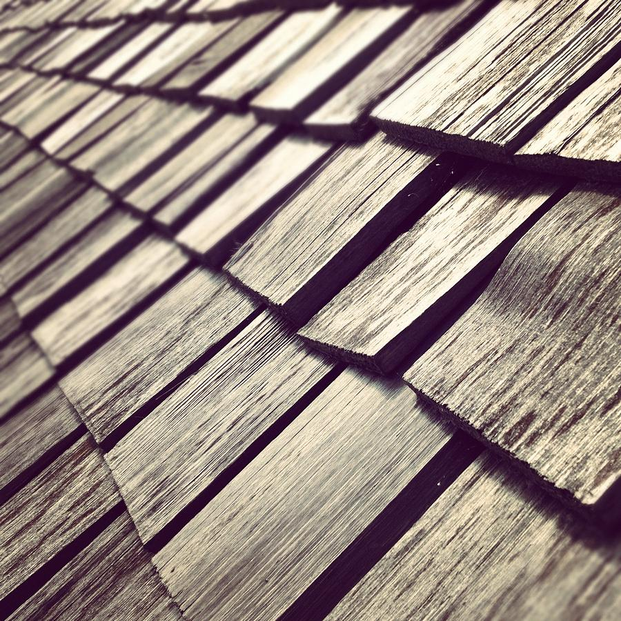 Architecture Photograph - Shingles by Christy Beckwith