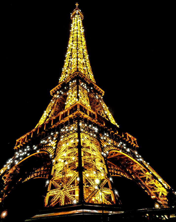Eiffel Tower Photograph - Shining at night by S M  Hasan