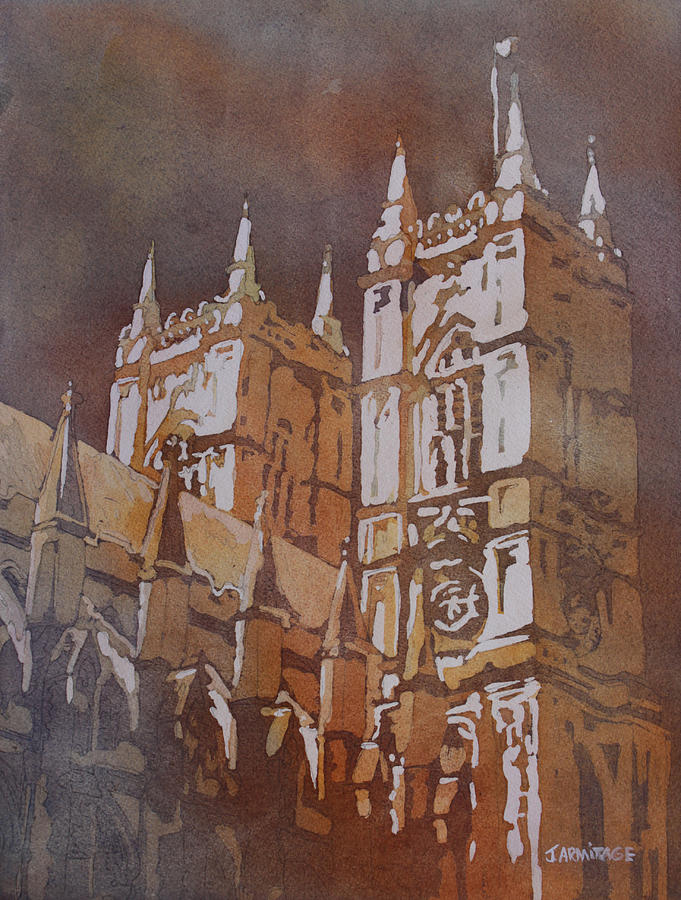 Westminster Abby Painting - Shining Out Of The Rain by Jenny Armitage