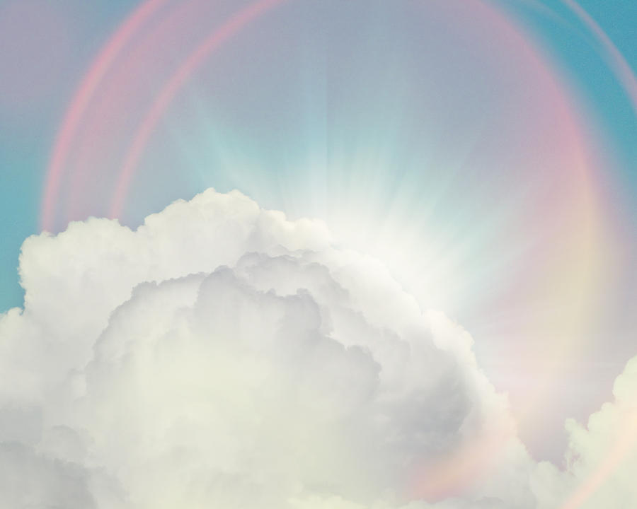 Cloud Photograph - Shining Through by Amy Tyler