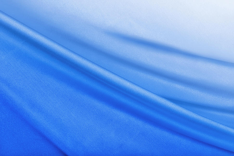 Shiny Blue Satin Background Photograph by Cinoby