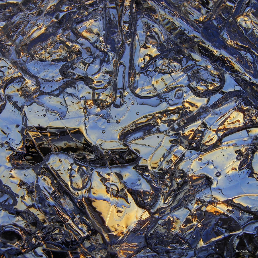 Blue Photograph - Shiny Ice by Sami Tiainen