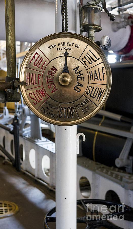 Dubuque Photograph - Ship Control Telegraph by Steven Ralser
