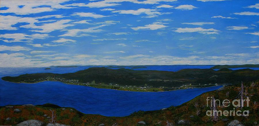 Barbara Griffin Painting - Ship Harbour From Sugarloaf Hill by Barbara Griffin