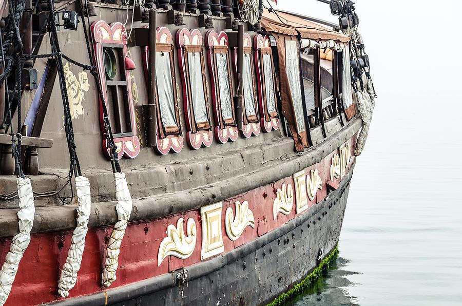 Thessaloniki Photograph - Ship In The Water. by Slavica Koceva
