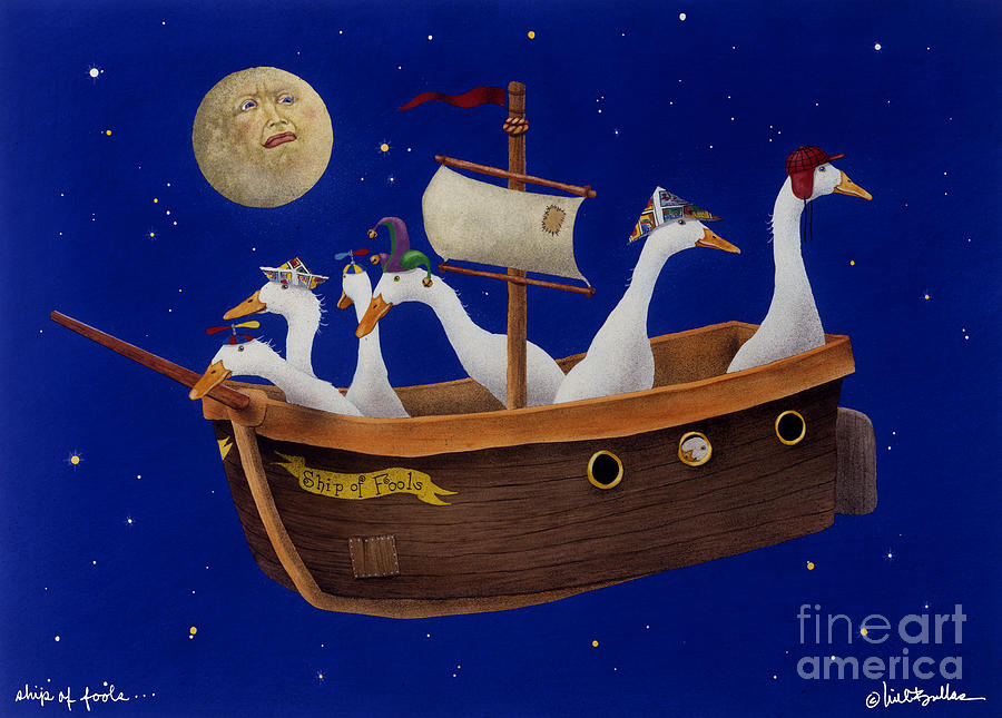 Will Bullas Painting - Ship Of Fools... by Will Bullas