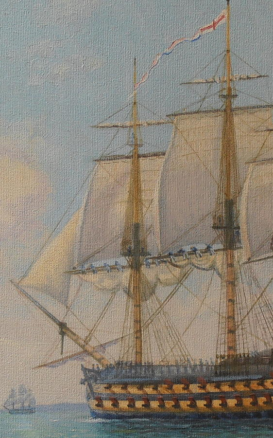 Oil Painting Painting - Ship-of-the-line by Elaine Jones