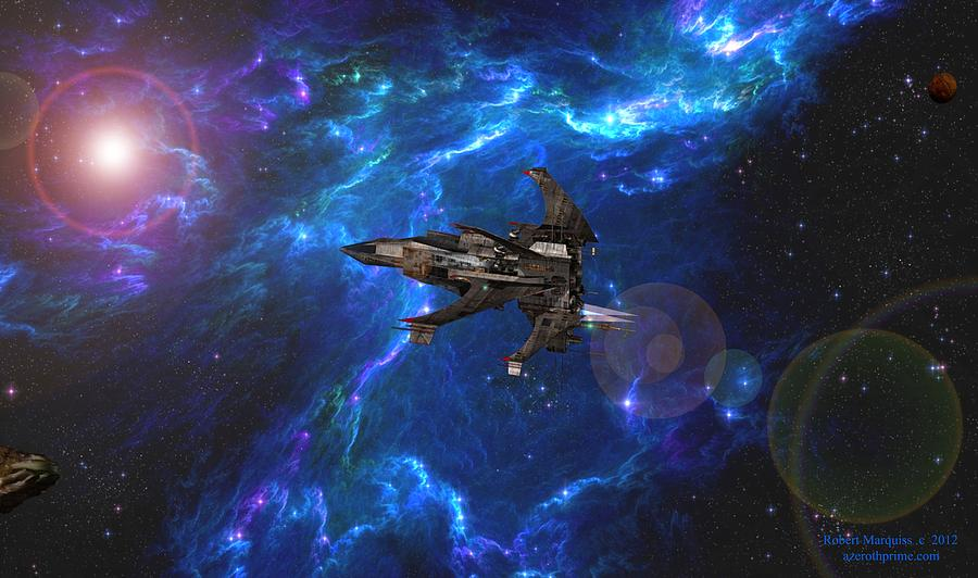 Space Opera Digital Art - Ship One by Robert Marquiss