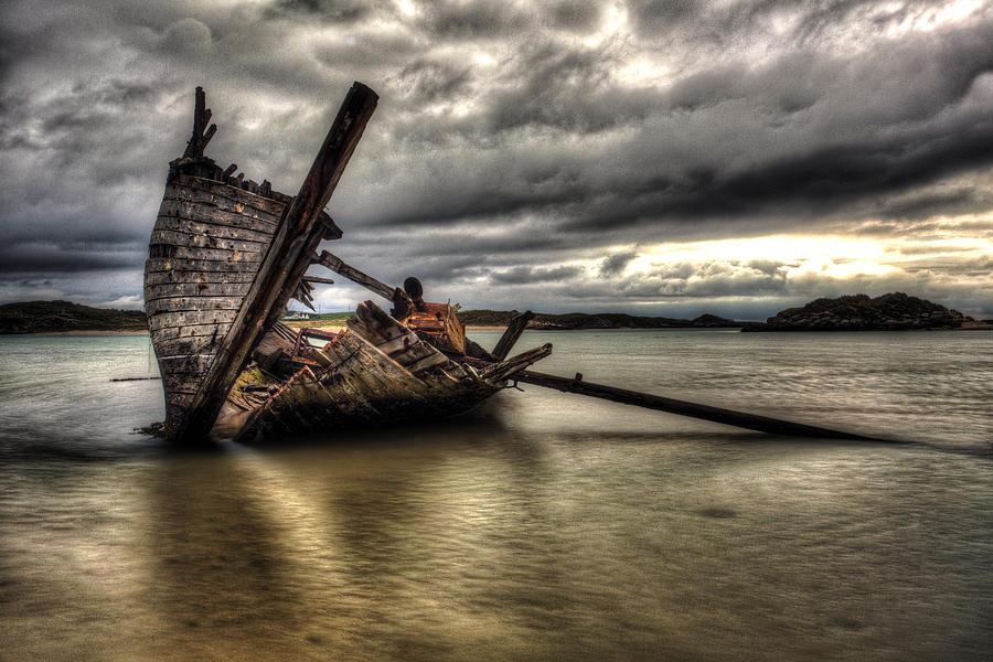 Boat Photograph - Ship Wreck by Craig Brown