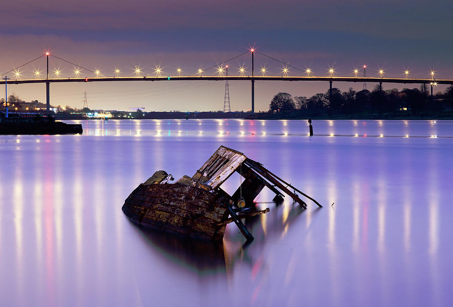 River Clyde Photograph - Ship Wreck by Grant Glendinning