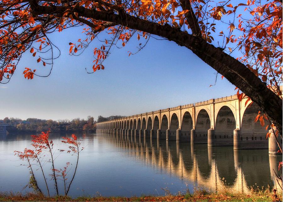 Bridge Photograph - Shipoke In Autumn by Lori Deiter