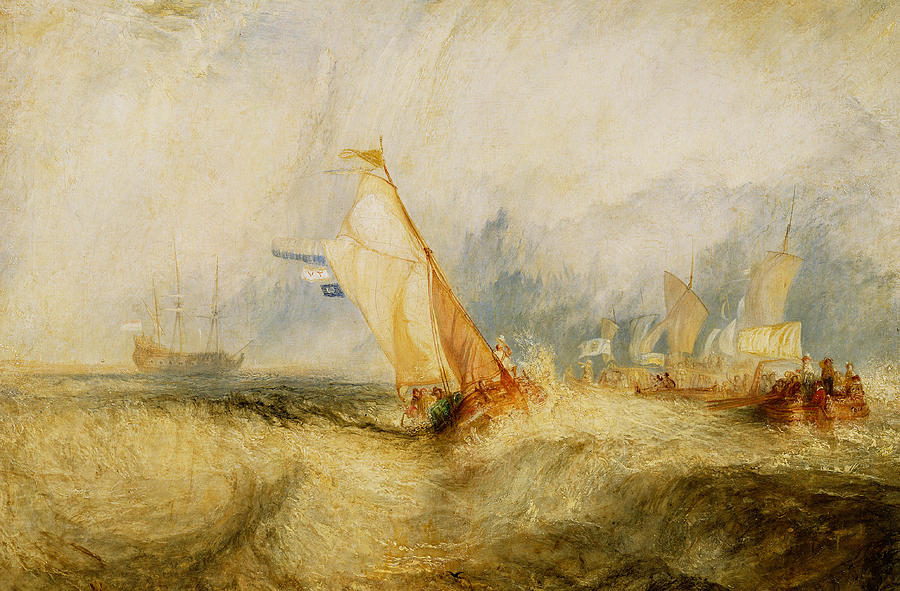Boat Painting - Ships A Sea Getting A Good Wetting by Joseph Mallord