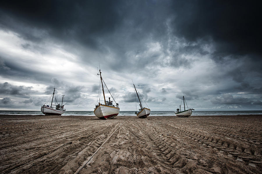 Dry Photograph - Ships by Fotomarion