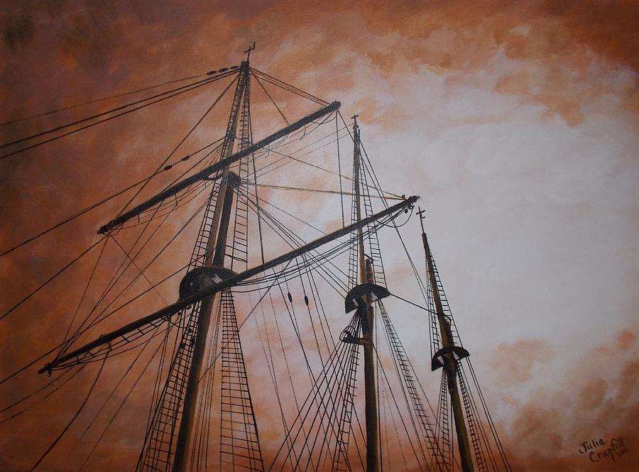 Ships Masts Painting by Julie Cranfill