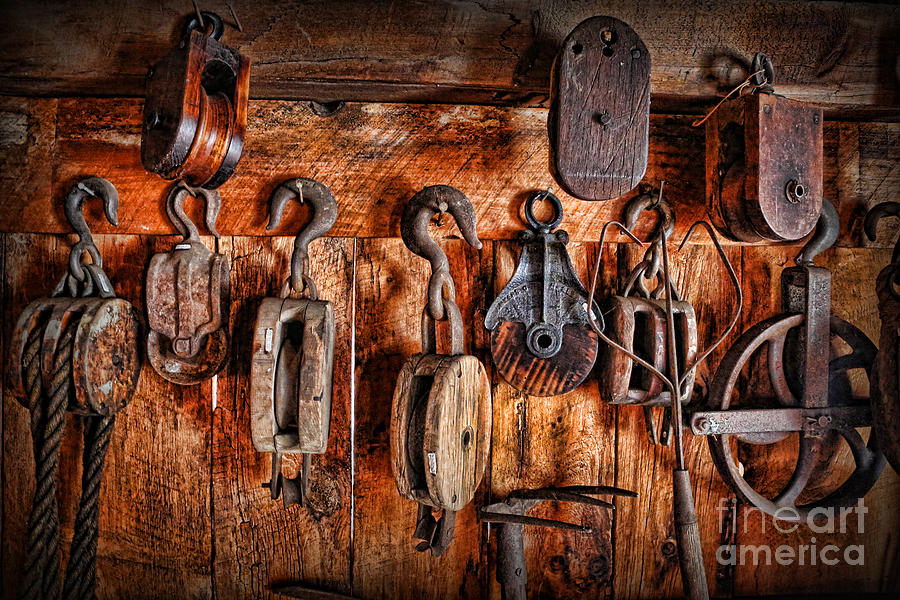Fishing Tackle Photograph - Ships Rigging by Lee Dos Santos