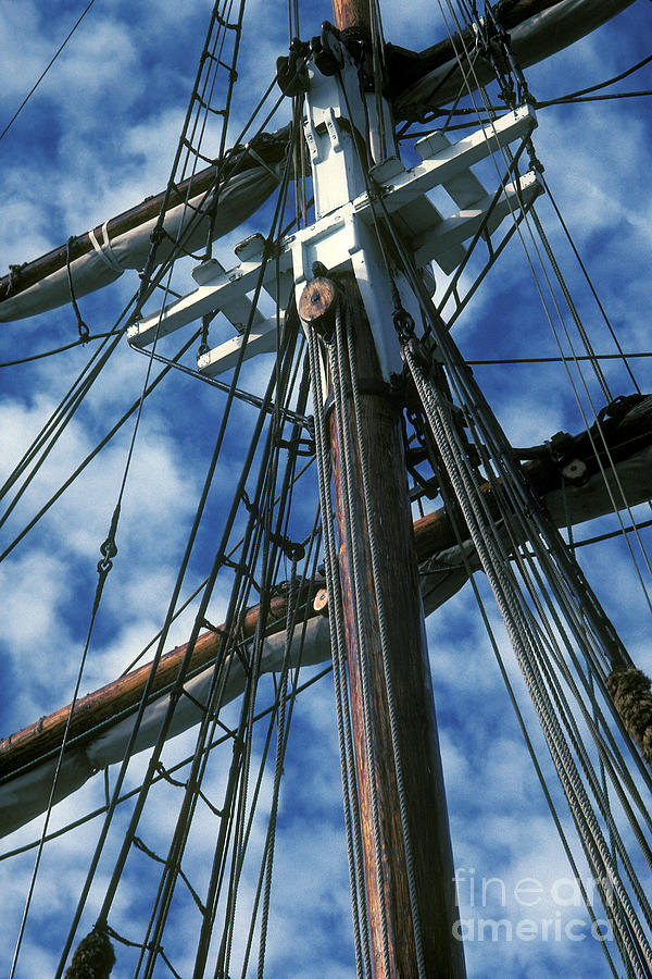 Ship Photograph - Ships Rigging by Paul W Faust -  Impressions of Light