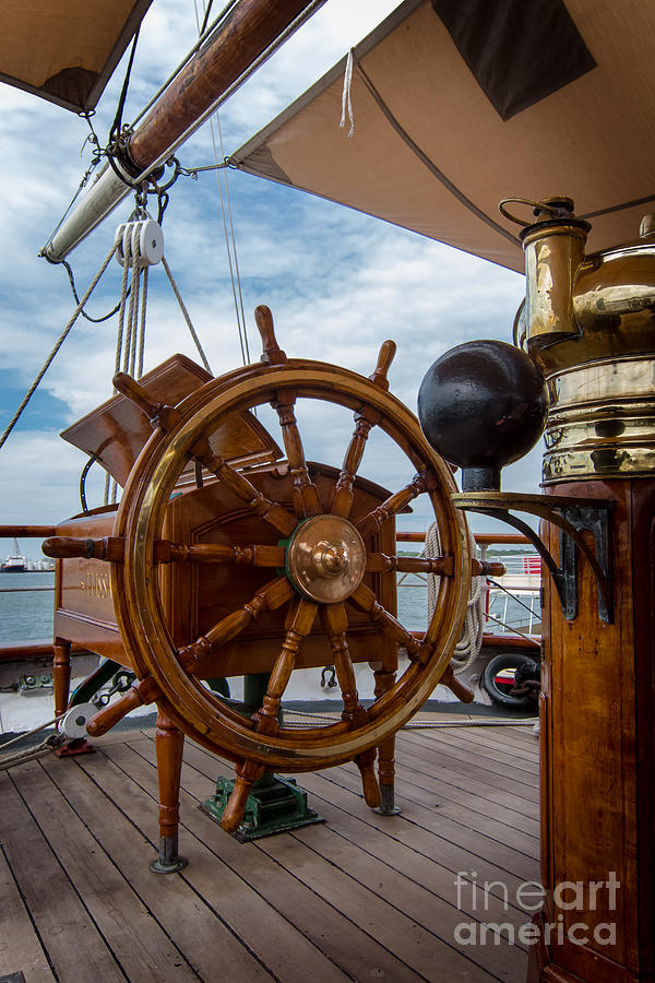 Transportation Photograph - Ships Wheel by Robert Frederick