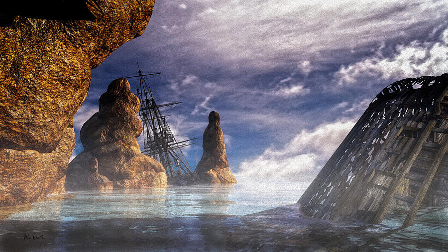 Bob Orsillo Digital Art - Shipwreck by Bob Orsillo