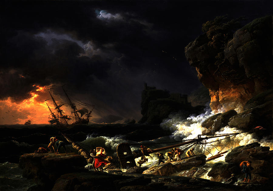 Shipwreck in a Thunderstorm by Joseph Vernet