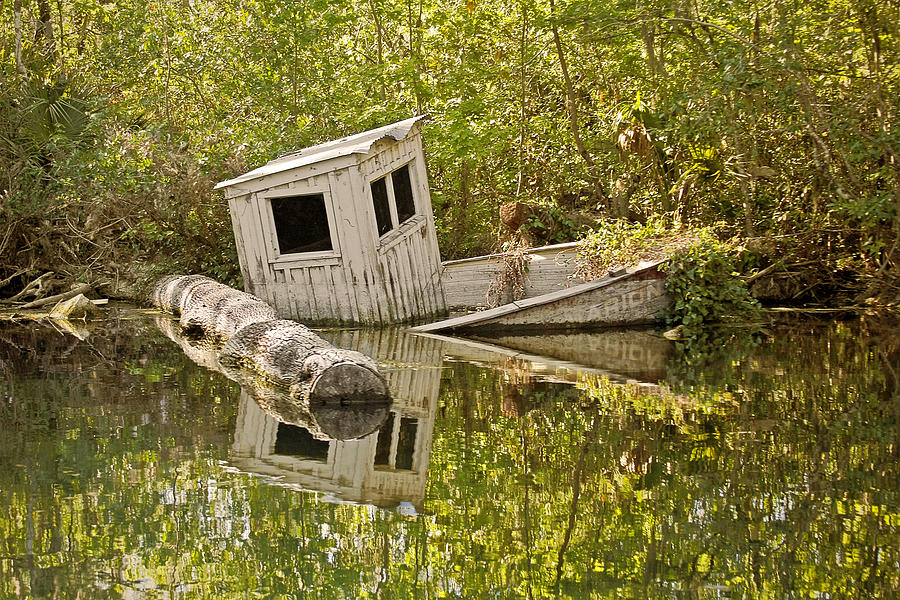Sunken Photograph - Shipwreck Silver Springs Florida by Christine Till