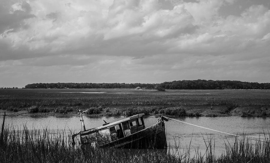 Boat Photograph - Shipwrecked  by Steven  Taylor
