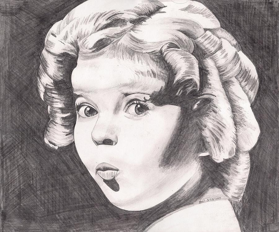 Girl Painting - Shirley Temple by Beverly Marshall