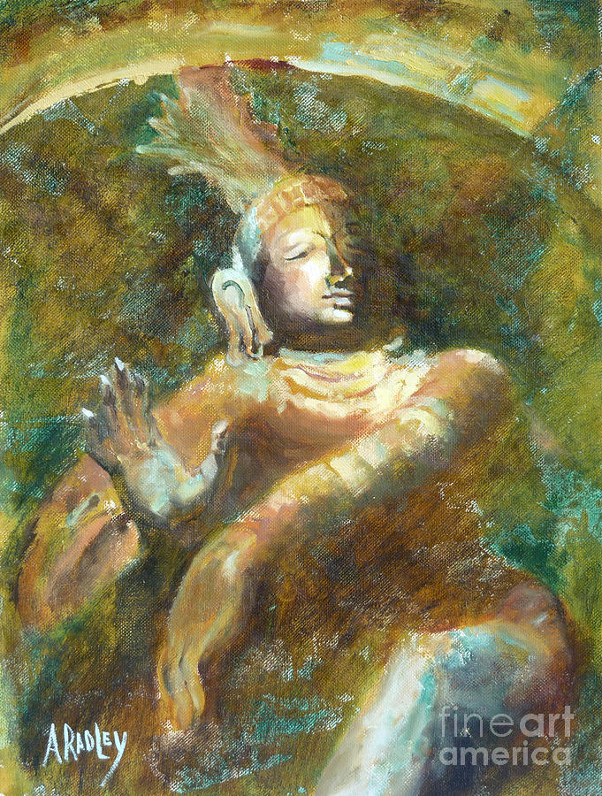 Shiva Hindu Deity Yoga Meditation Creator Destroyer Creation Destruction Divine Hinduism Lord Of The Dance Ignorance Brahma Vishnu Tandava Peace Nataraja Siva Painting - Shiva Creator Destroyer by Ann Radley
