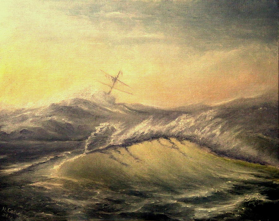 Seascape Painting - Shivering Beauty Of Storm by Mikhail Savchenko
