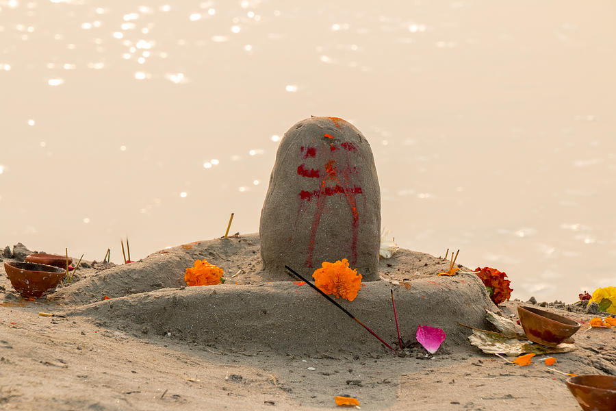 Allahabad Photograph - Shivling From Sand by Gaurav Singh