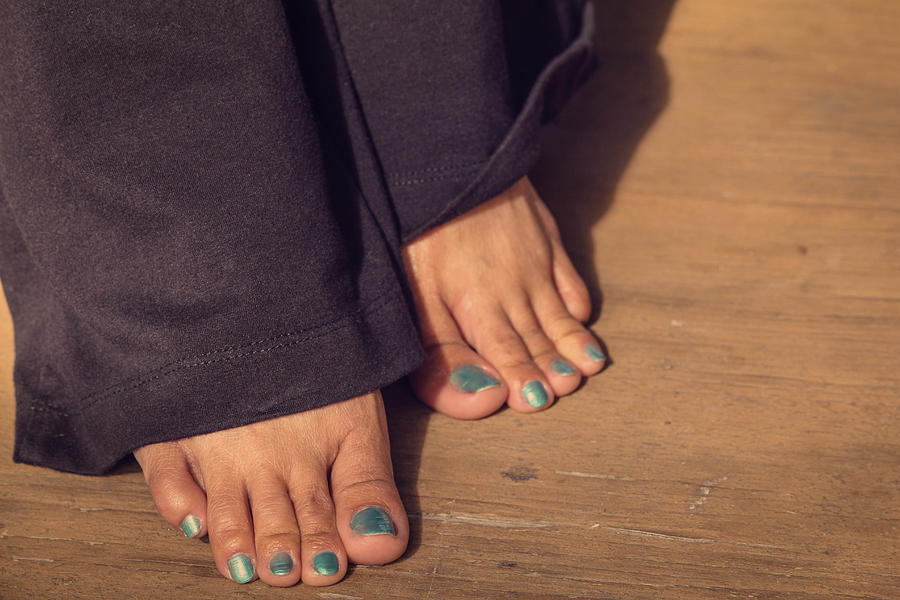 Nail Photograph - Shoeless by Ester  Rogers