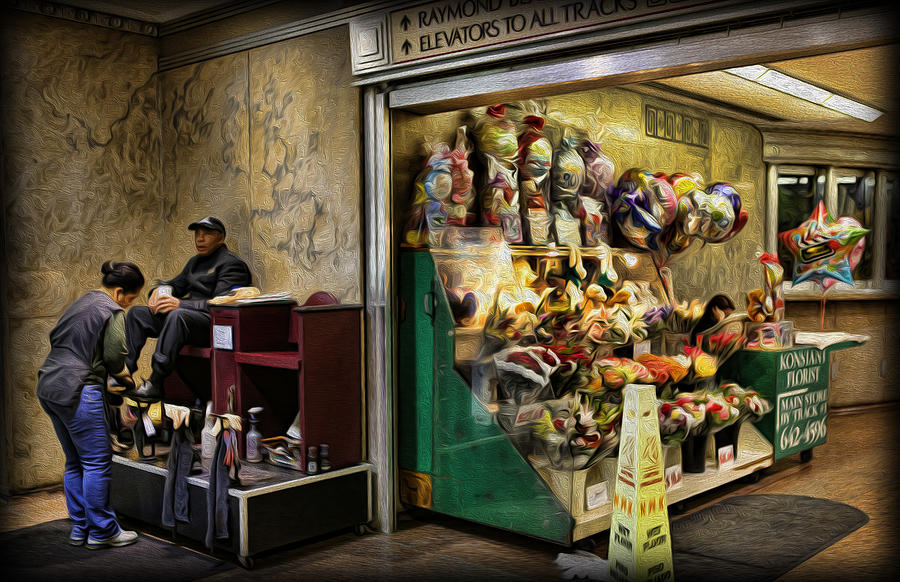 Digital Painting Photograph - Shoeshine On A Sunday by Lee Dos Santos