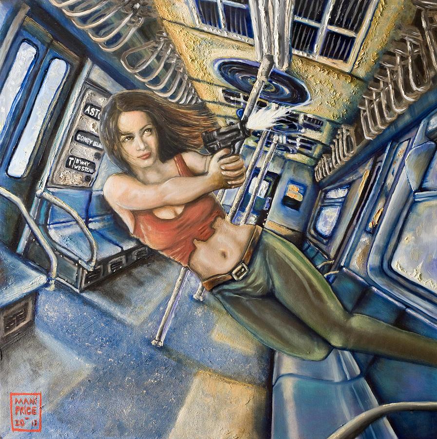 Subway Painting - Shoot Nikita by Mani Price
