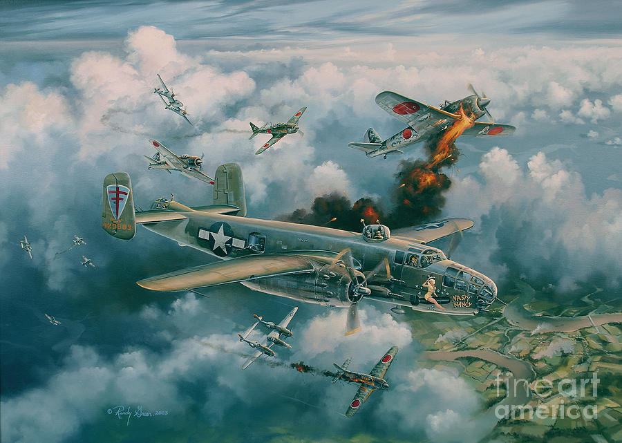 Prints Painting - Shoot-out Over Saigon by Randy Green