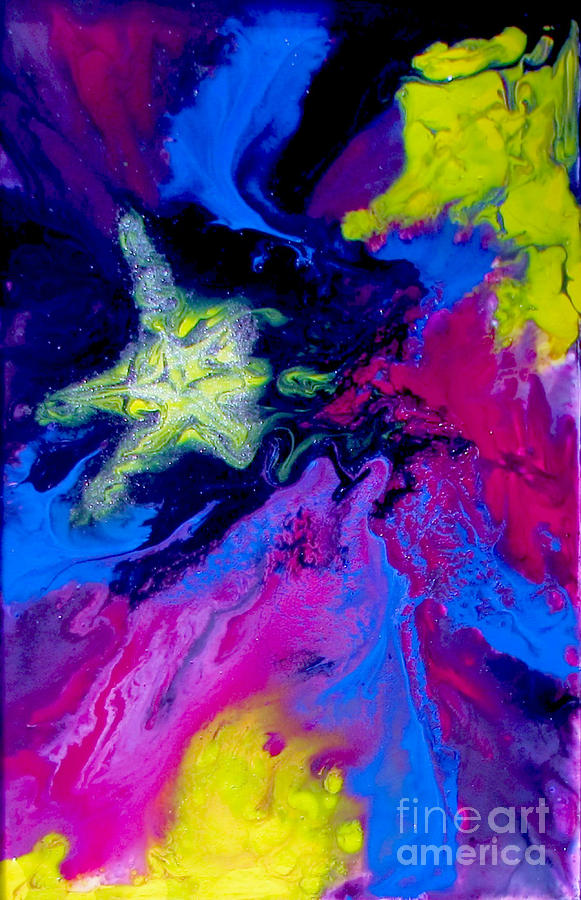 Paiting Painting - Shooting Star by Bozena Simeth
